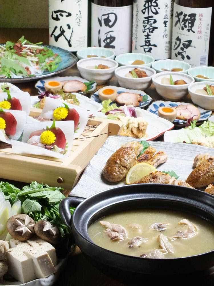 Pot course&Free drink for 2 hours ¥6500(tax included)